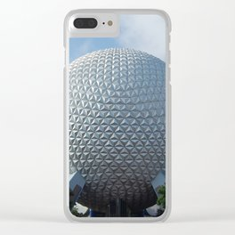 Spaceship Earth Clear iPhone Case