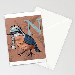 Alphabetical Birds: N Stationery Cards