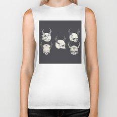 skulls & horns Biker Tank