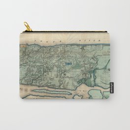 Egbert Viele 1865 Topographic Map of New York City Carry-All Pouch