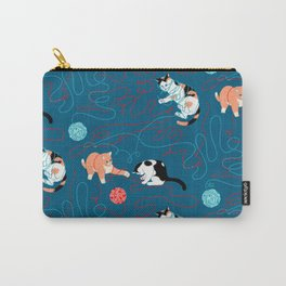 Cats playing with yarn Carry-All Pouch