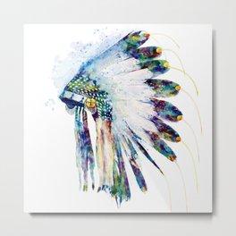Colorful Indian Headdress Metal Print