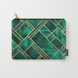 Emerald Blocks Carry-All Pouch