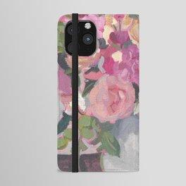 Magenta Floral Bouquet iPhone Wallet Case