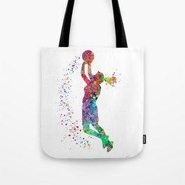 Basketball Girl Player Sports Art Print Tote Bag