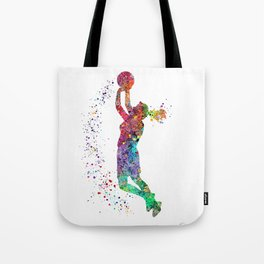 Basketball Girl Player Sports Art Print Tote Bag