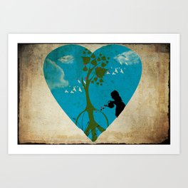 cultivating peace Art Print