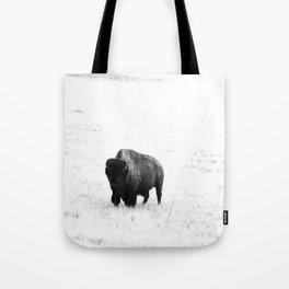 A Bison - Monochrome Tote Bag