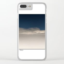 Up There ! Clear iPhone Case