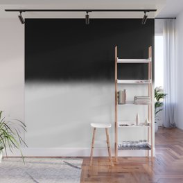 Black and White Split Fade Inverse Wall Mural