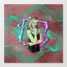 Neon Punk Zombie Canvas Print