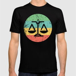 Lawyer Judge Retro Scale of Justice T-shirt