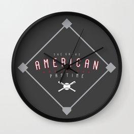 Baseball - The Great American Pastime Wall Clock