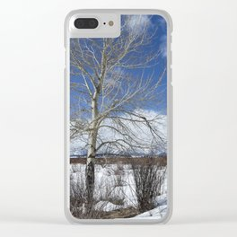 Grand Tetons from Willow Flats with a Tree Clear iPhone Case