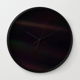 Mote of dust, suspended in a sunbeam Wall Clock