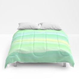 Mint Aqua Rolling Hills Comforters