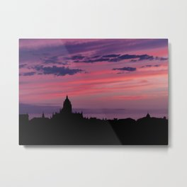 Cathedral of Segovia at Sunset Metal Print
