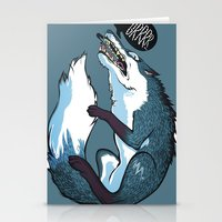 fierce Stationery Cards featuring Fierce by Carlos Anguis