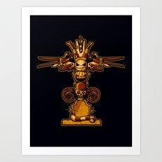 Burtons Totem Art Print