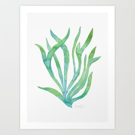 Green Seaweed Art Print