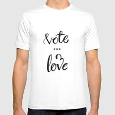 Vote for Love White Mens Fitted Tee MEDIUM