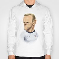 england Hoodies featuring Rooney - England by Sant Toscanni