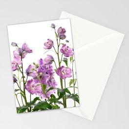 Purple delphinium flowers Stationery Cards