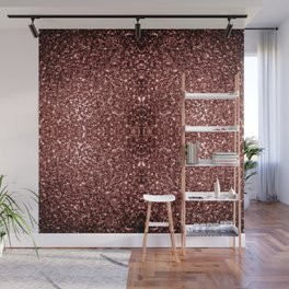 Beautiful Glam Marsala Brown-Red Glitter sparkles Wall Mural