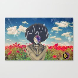 Afro Heartbeat Canvas Print