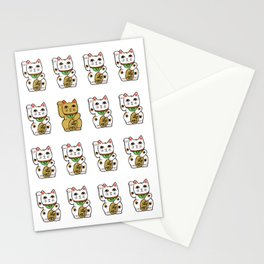 Maneki neko Stationery Cards