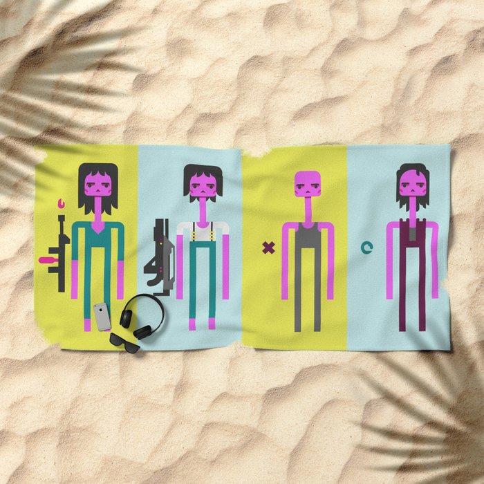 ALIEN(S)³ - Ellen Ripley Icons Beach Towel