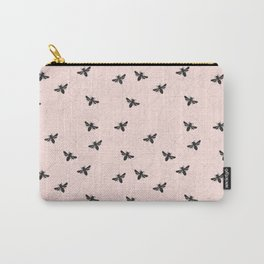 Bee Dancing on Pink - Mix & Match With Simplicity of Life Carry-All Pouch