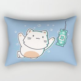 Nevermind Cat Rectangular Pillow