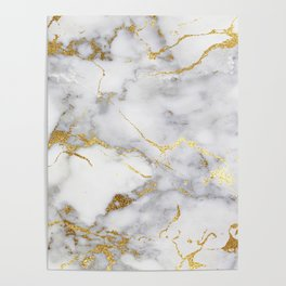 Italian gold marble Poster