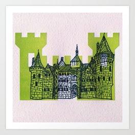 Letterpress Castle 1 Art Print
