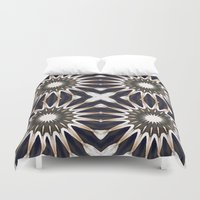 chocolate Duvet Covers featuring Chocolate Flower Mandala Pattern by 2sweet4words Designs