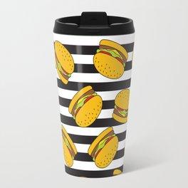 Burger Stripes By Everett Co Travel Mug