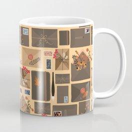 Snail Mail Pattern Light Coffee Mug