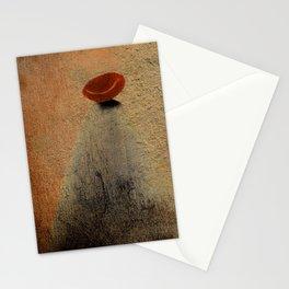 Señora con Sombrero y Abrigo Stationery Cards