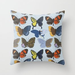 Gynandromorph Butterfly Throw Pillow