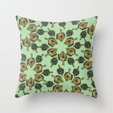Swirling Artichokes Throw Pillow