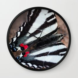 Zebra Swallowtail Wall Clock