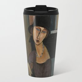 Modigliani - Jeanne Hebuterne With Hat And Necklace Travel Mug