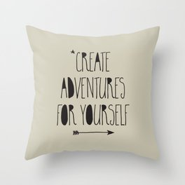 Adventures Throw Pillow