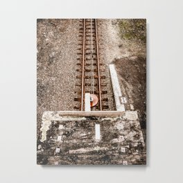 Down To The Tracks Metal Print