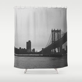 Dusk on the East River Shower Curtain