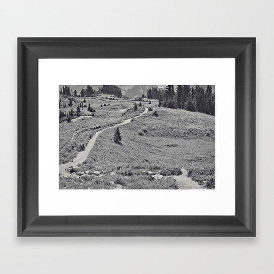 Trail B&W Framed Art Print