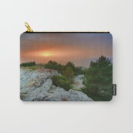 Sunset at the mountains. Under the rain Carry-All Pouch