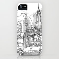 New York! B&W Slim Case iPhone SE
