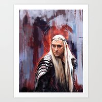 thranduil Art Prints featuring Thranduil by Wisesnail